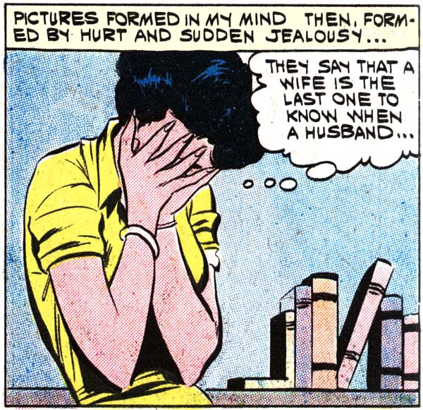 The original art as it appeared in FIRST KISS #20 (1961) by Vince Colletta.