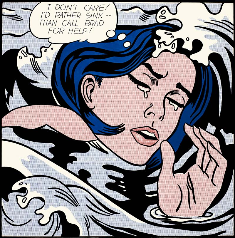 "Roy Lichtenstein's ""Drowning Girl."""