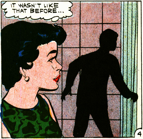 Panel 1 Art: Vince Colletta Studio from FIRST KISS #20, 1961.