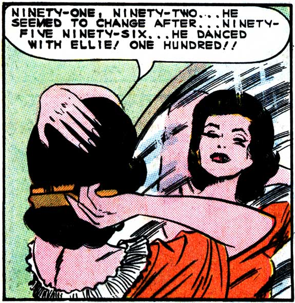 "Art by Vince Colletta Studio from the story ""The Love Thief"" in FIRST KISS #37, 1964."