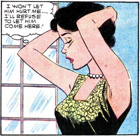 "Pencils by Dick Giordano with inks by either Giordano or Vince Colletta. From the story ""Letter from Long Ago"" in FIRST KISS #6, 1958."
