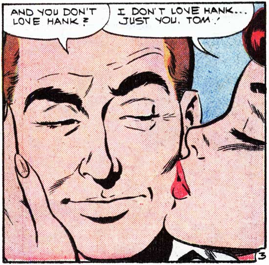 """Art by Dick Giordano from the story """"Fooling with Love"""" in FIRST KISS #7, 1959."""