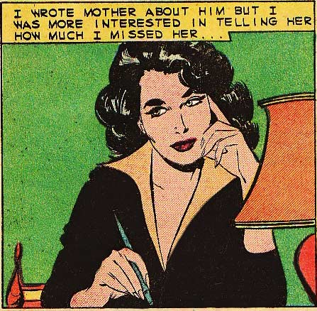 """Art by Vince Colletta from the story """"Mama's Little Girl"""" in JUST MARRIED #10, 1959."""