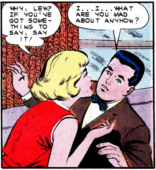 "Art by Dick Giordano from the story ""The Proposal"" in FIRST KISS #31, 1963."