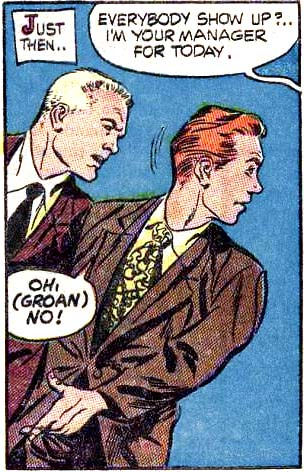 Art by Dick Giordano and Vince Alascia from FRANK MERRIWELL AT YALE #1, 1955.