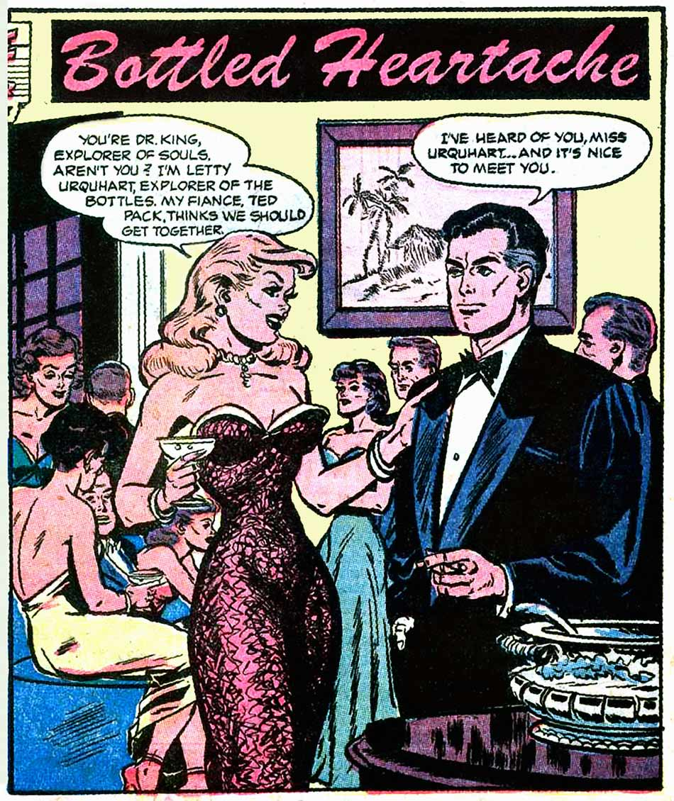 "Art by Jack Sparling? From the story ""Bottled Headache"" in GREAT LOVER ROMANCES #11, 1953."
