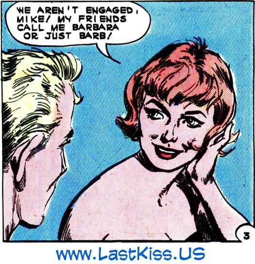 "Art by Luis Dominguez from the story ""Reckless Romance"" in FIRST KISS #30, 1963."