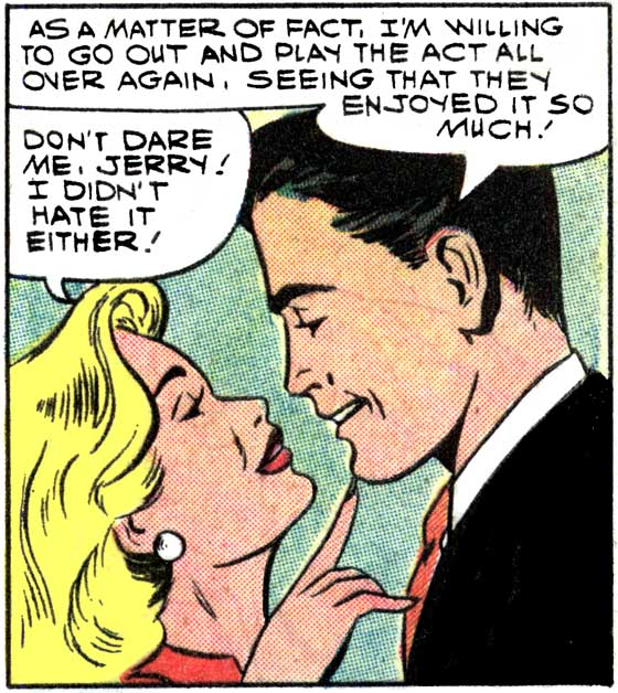 "Artist unknown. Art first appeared in the story ""Bachelor's Farewell"" in FIRST KISS #7, 1959."