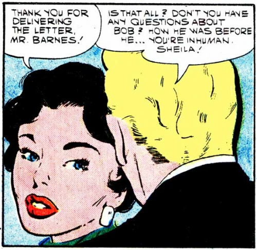 "Art by Dick Giordano (with possible assist by Vince Colletta) from the story ""Letter from Long Ago"" in FIRST KISS #6, 1958."
