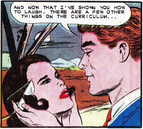 "Art by Vince Colletta Studio in the story ""Teach Me, My Love"" in FIRST KISS #29, 1962."