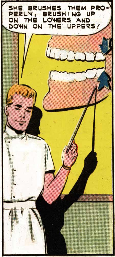 "Art by Dick Giordano in the story ""A Winsome Smile"" in FIRST KISS #31, 1963."