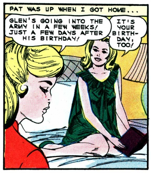 "Original art by Vince Colletta Studio from the story ""Surprise Party"" in FIRST KISS #40, 1965."