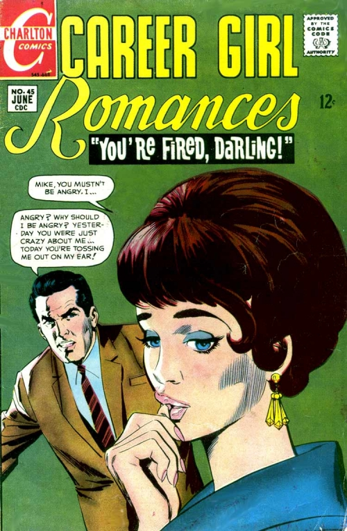 Art by Dick Giordano from the cover of CAREER GIRL ROMANCES #45, 1964.