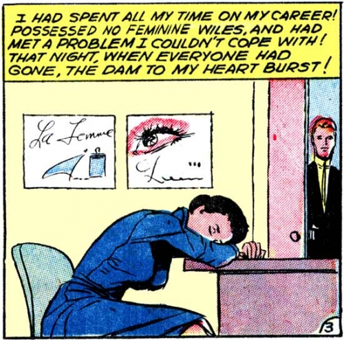 "1958 art by Vince Colletta Studio from the story ""Made for Romance"" in FIRST KISS #4."