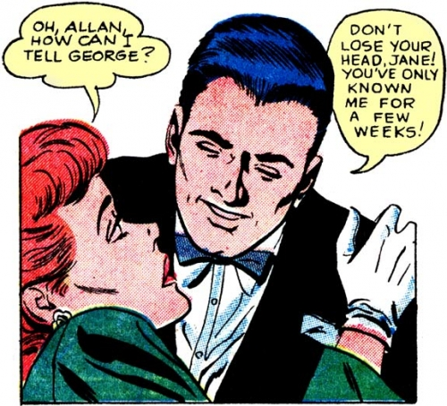 """Art by Charles Nicholas & Dick Giordano from the story """"Sweethearts"""" in FIRST KISS #7, 1959."""