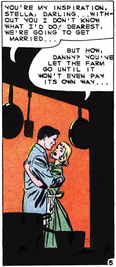 "Art by Charles Nicholas & Vince Alascia from the story ""Love Will Point the Way"" in FIRST KISS #14, 1960."