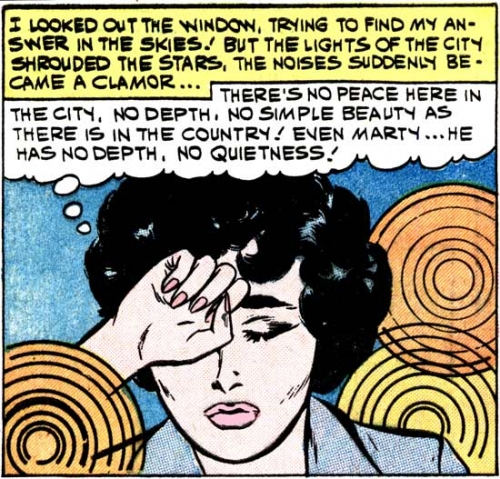 """Art by Vince Colletta Studio from the story """"To Find My Love"""" in FIRST KISS #16, 1960."""