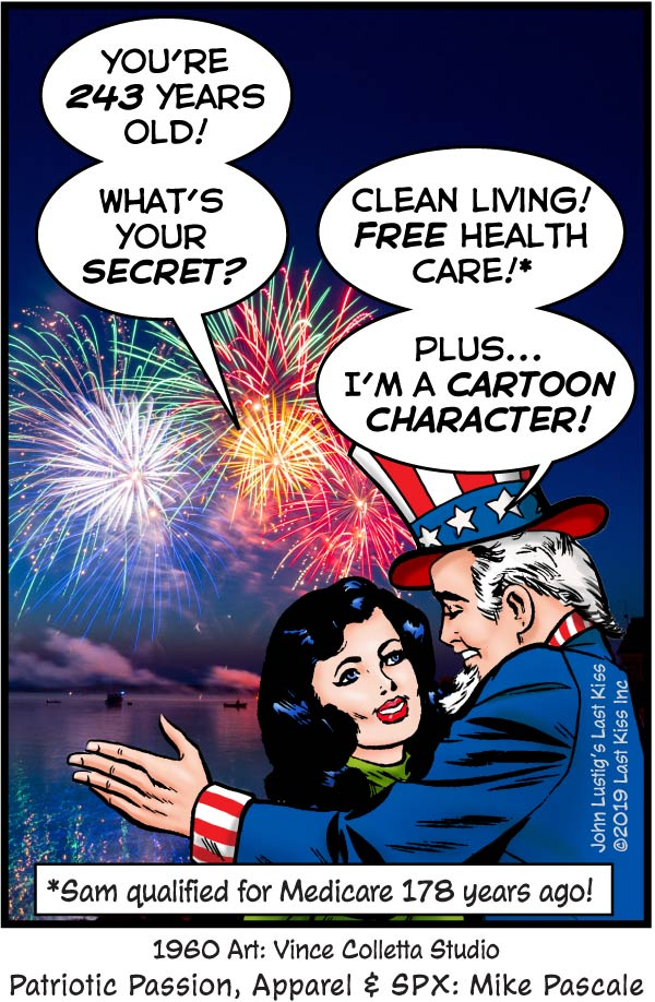 Last Kiss Fourth of July Comic