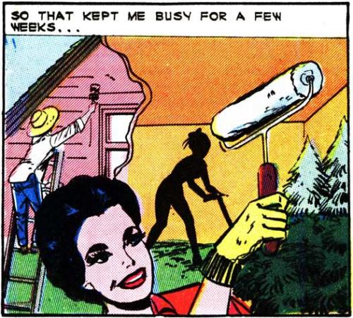 Vintage art & text.