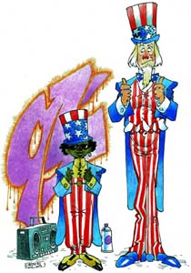 Uncle Sam and Junior by Ernie Colon